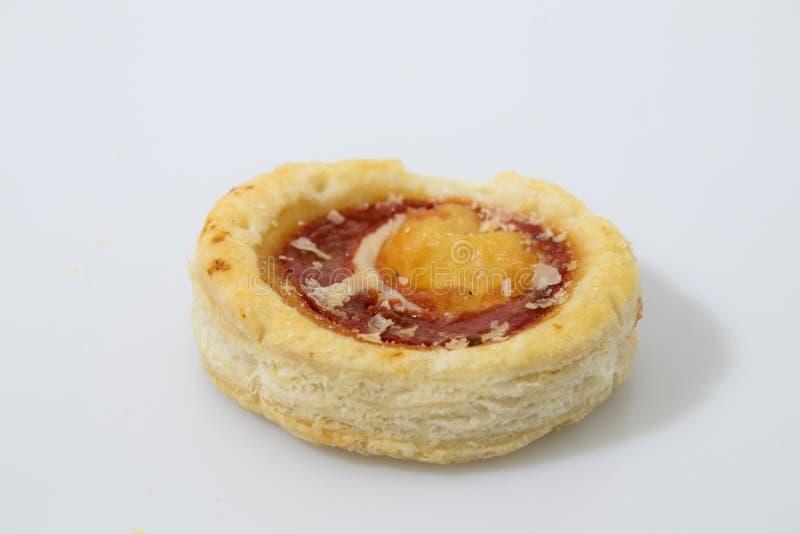 Alimento italiano delle piccole pizze in un fondo bianco fotografia stock libera da diritti