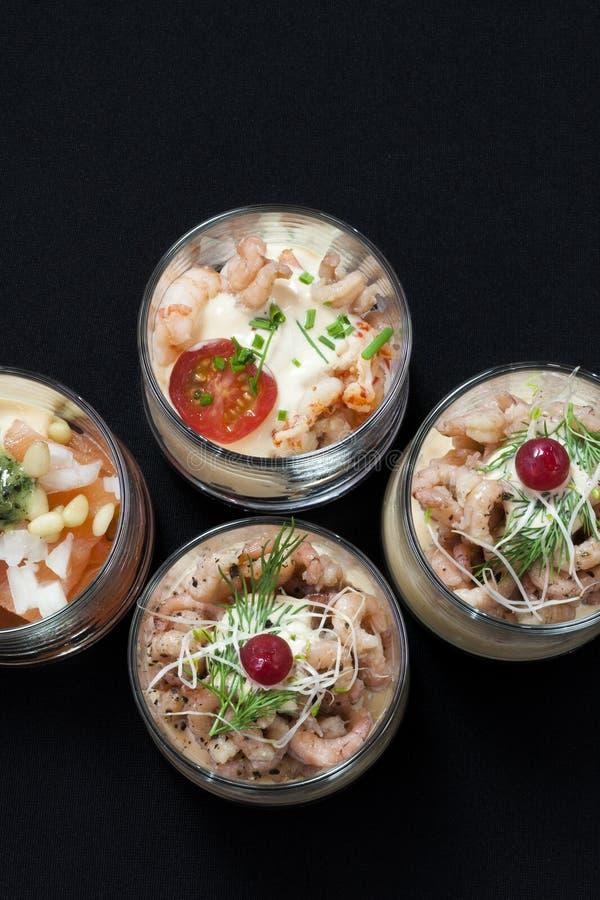 Alimento japonés, scampi asado imagenes de archivo