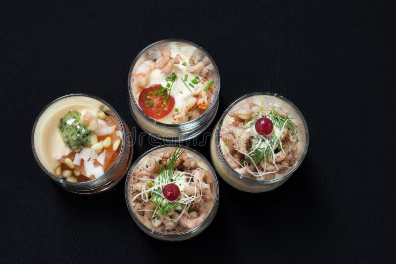 Alimento japonés, scampi asado fotos de archivo