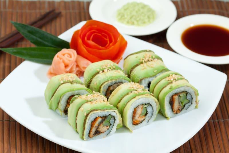 Alimento japonês do sushi foto de stock