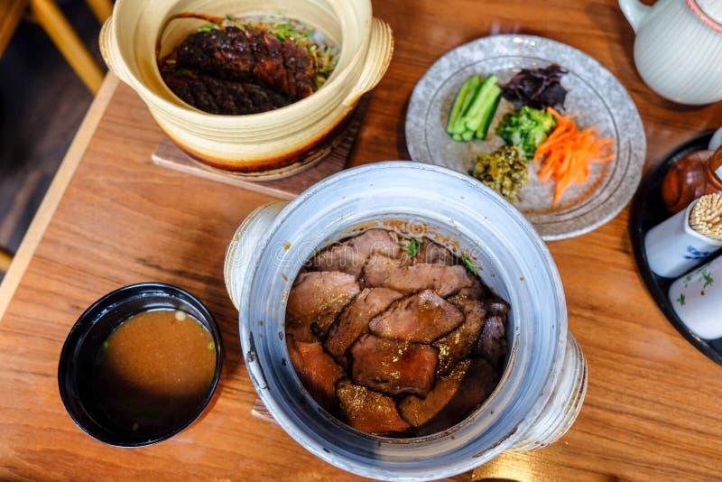 Alimento japonês em Fukuoka, Japão imagem de stock royalty free