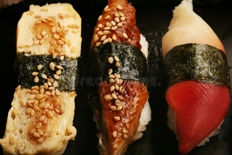 Alimento japonês. Fim acima. imagens de stock royalty free