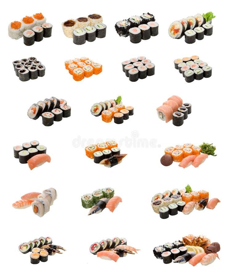 Alimento japonês isolado no branco imagem de stock royalty free