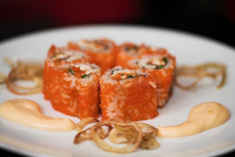 Alimento japonês. Sushi. foto de stock royalty free