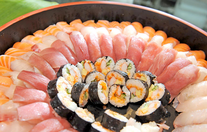 Alimento japonês - sushi foto de stock royalty free