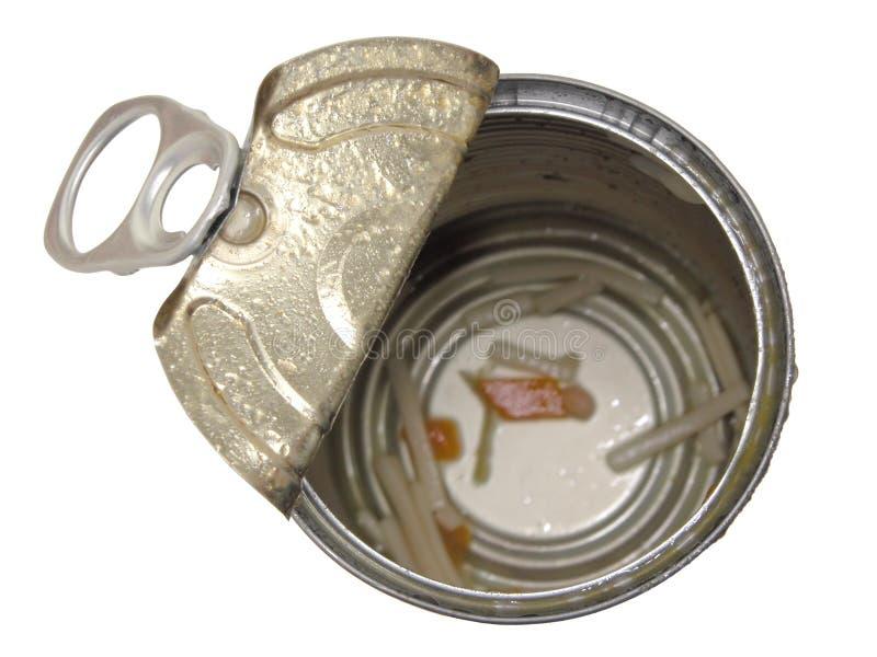 Alimento: Lata vazia da sopa foto de stock royalty free