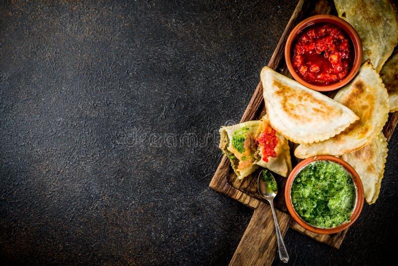 Alimento latino-americano, mexicano, chileno Pastelaria cozida tradicional imagens de stock