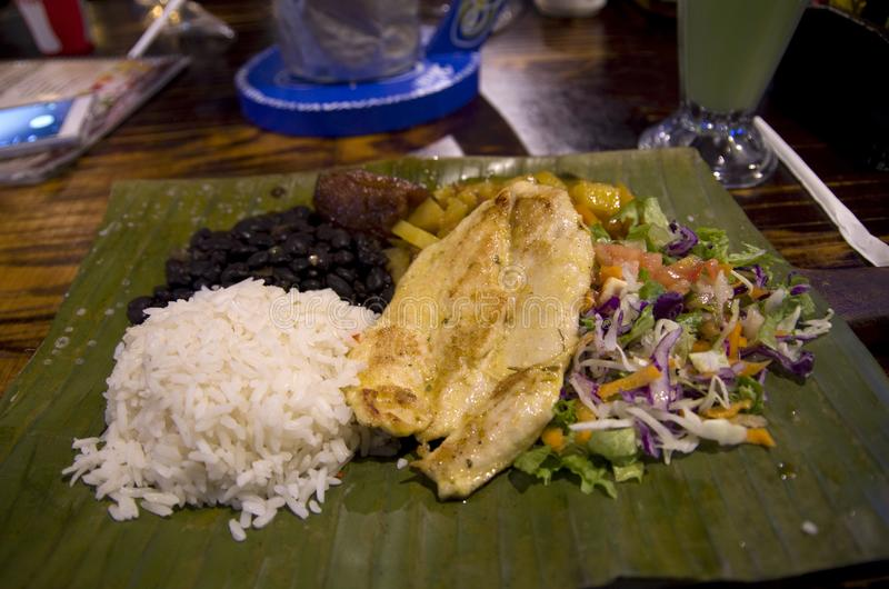 Alimento latino-americano no restaurante de San Jose imagens de stock royalty free