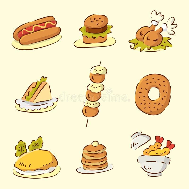 Alimento lindo de la historieta libre illustration