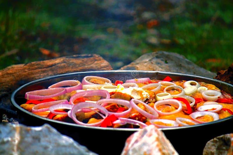 Alimento macedônio imagem de stock