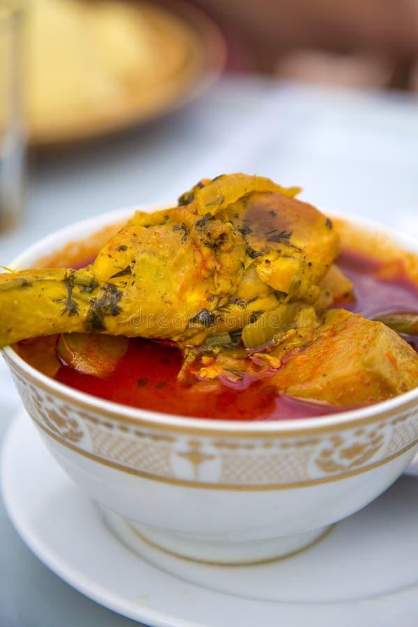 Alimento marroquino da galinha imagem de stock royalty free