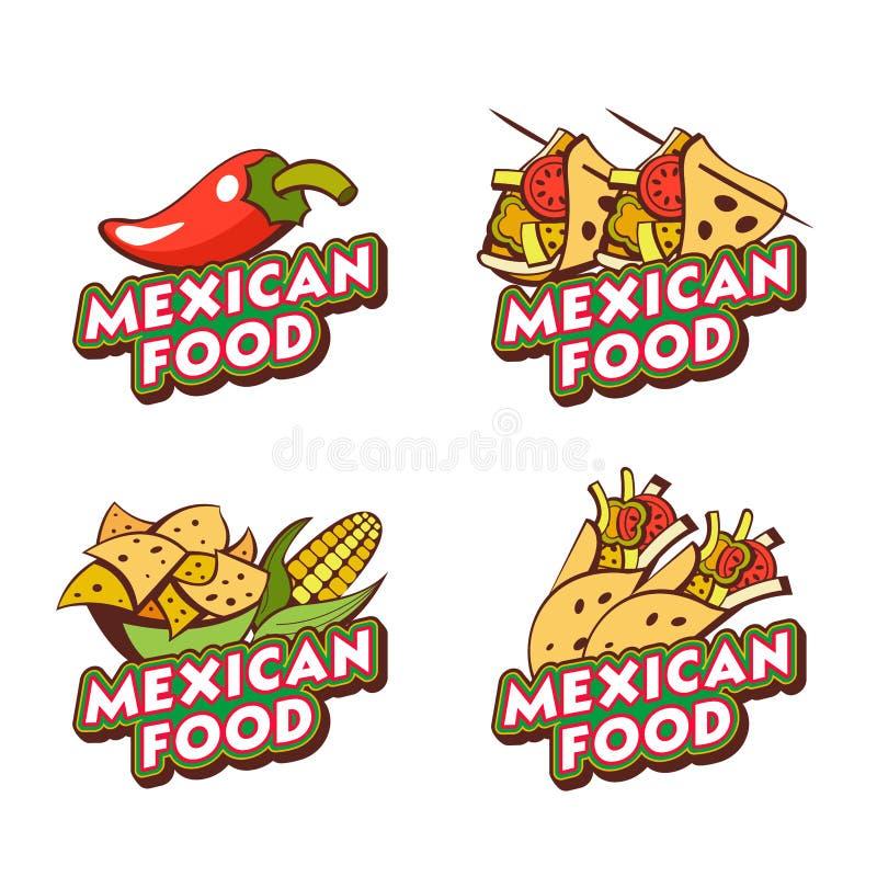 Alimento messicano L'emblema, il logo di cucina messicana Vettore IL illustrazione vettoriale