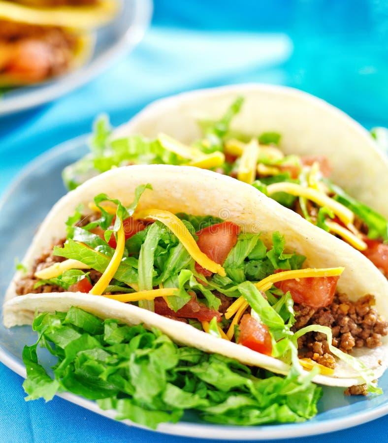 Alimento messicano - taci molli delle coperture fotografia stock libera da diritti
