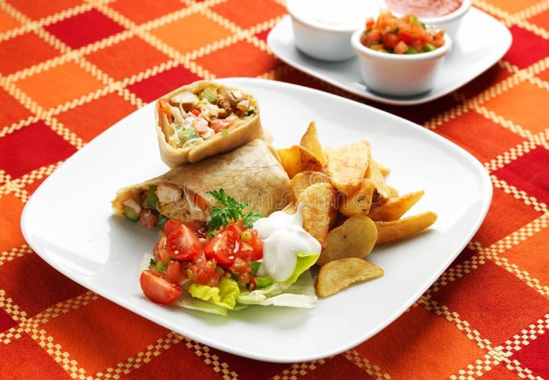 Alimento messicano - Taquitos fotografie stock libere da diritti