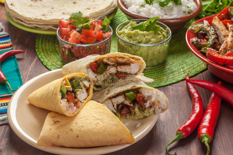 Alimento messicano tradizionale immagini stock