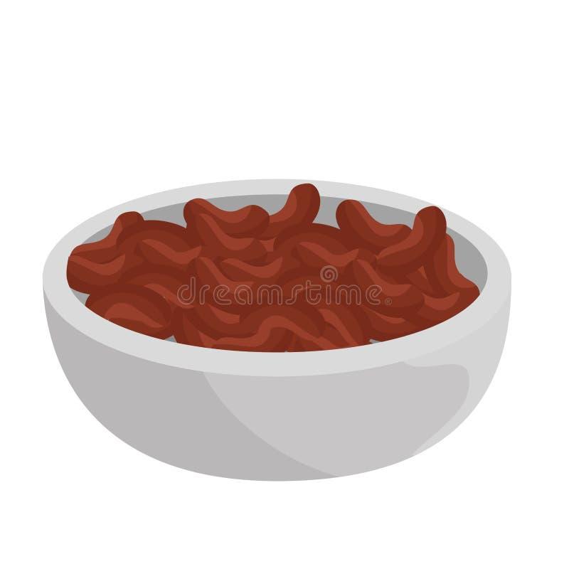 Alimento mexicano dos feijões deliciosos ilustração stock