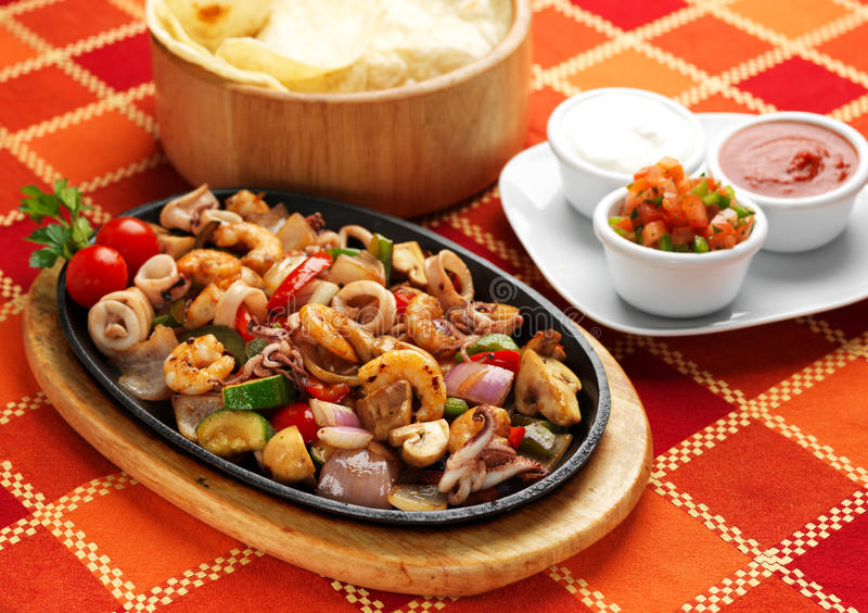 Alimento mexicano - Fajita fotografía de archivo