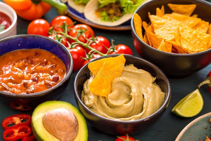 Alimento mexicano misturado imagens de stock royalty free