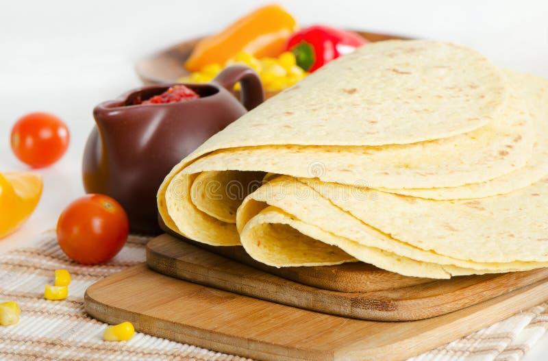 Alimento mexicano - tortilha fotografia de stock