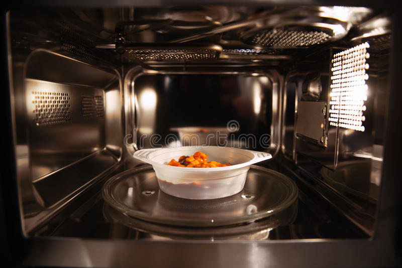 Alimento Microwavable imagem de stock royalty free