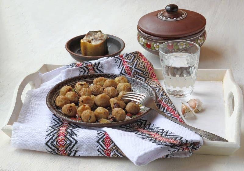 Alimento nacional ucraniano de imagens de stock royalty free