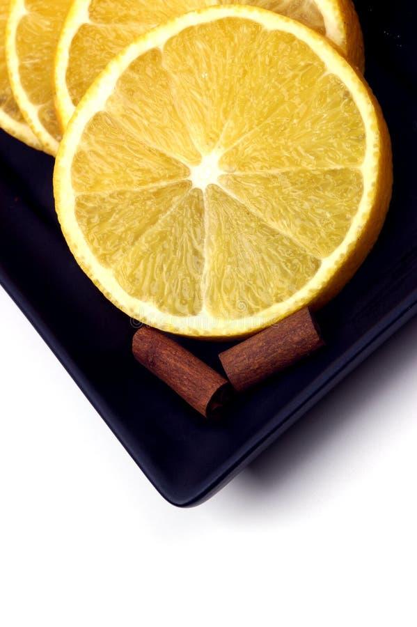 Alimento - naranja y cinamomo foto de archivo