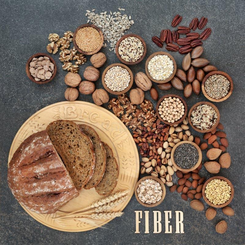 Alimento natural alto da fibra fotos de stock royalty free