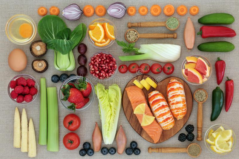 Alimento natural para perder o peso foto de stock royalty free