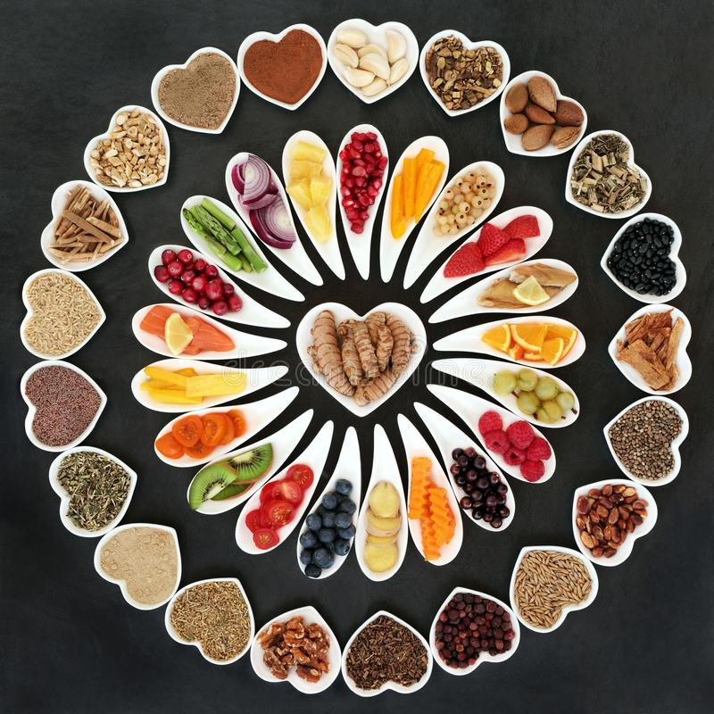 Alimento natural para um coração saudável foto de stock