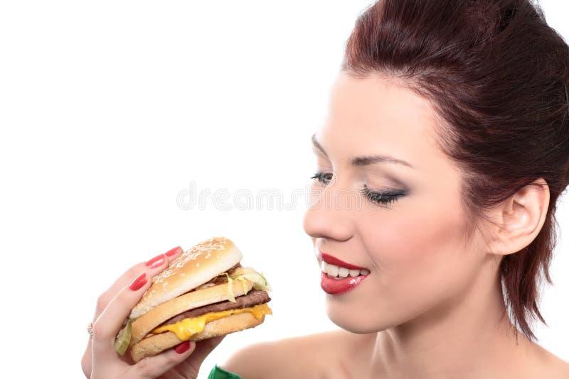Alimento non sano immagine stock