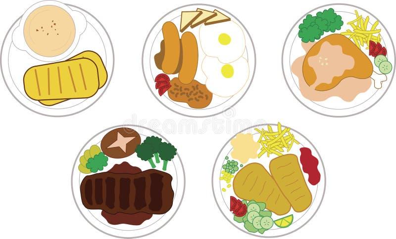 Alimento ocidental ilustração royalty free