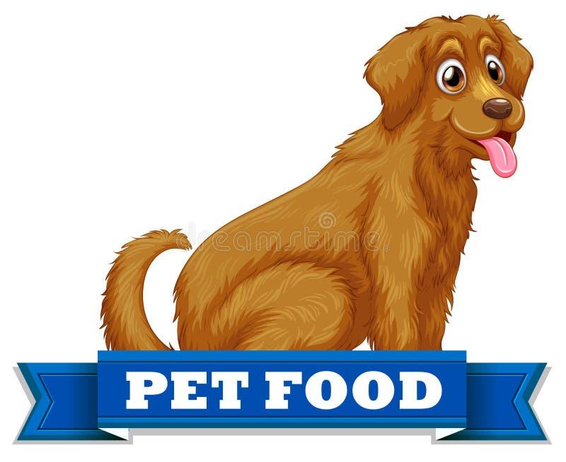 Alimento para animales stock de ilustración