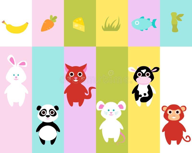 Alimento per i piccoli animali illustrazione di stock