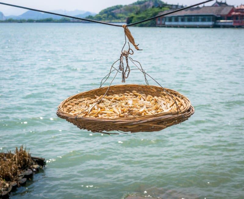 alimento prserved sobre um lago fotografia de stock