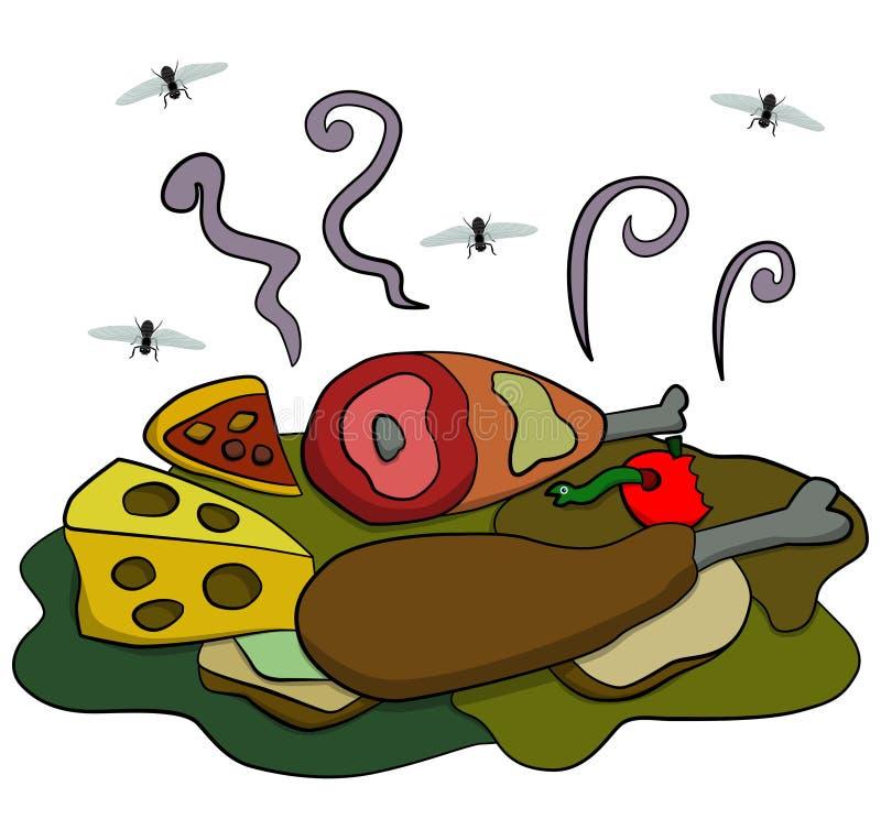 Alimento putrefacto stock de ilustración
