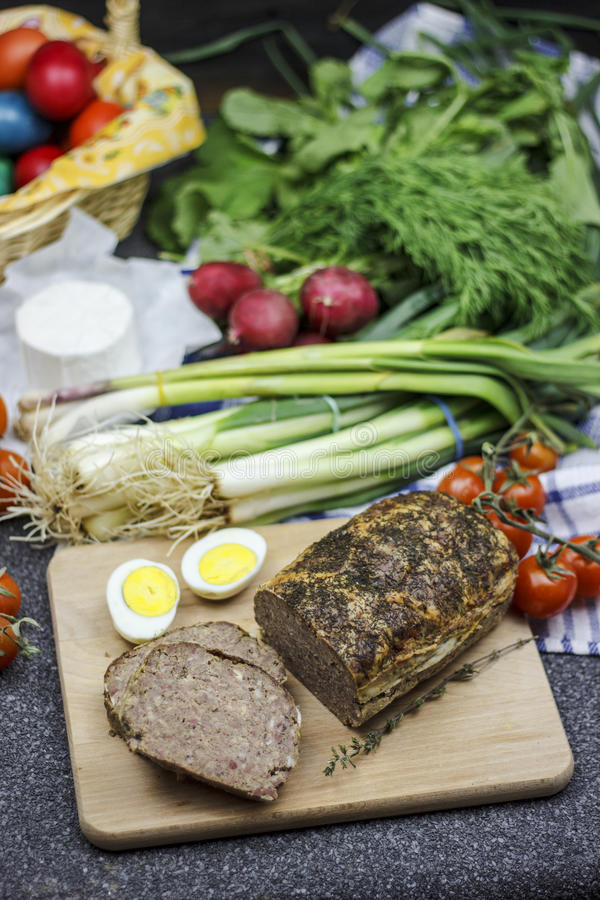 Alimento romeno da Páscoa - Drob fotos de stock royalty free