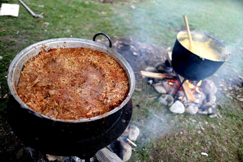 Alimento romeno tradicional, sarmale fotografia de stock royalty free