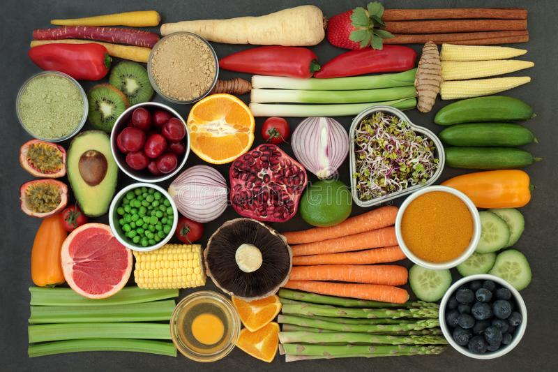 Alimento salutare per il cibo pulito fotografia stock