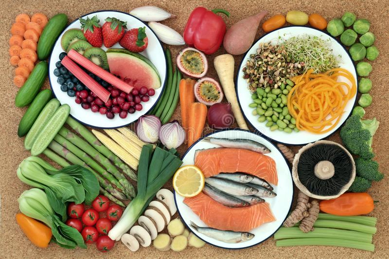 Alimento salutare per il cibo sano fotografia stock