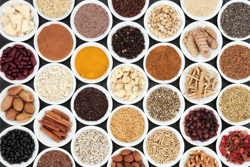 Alimento salutare utile del cuore immagine stock