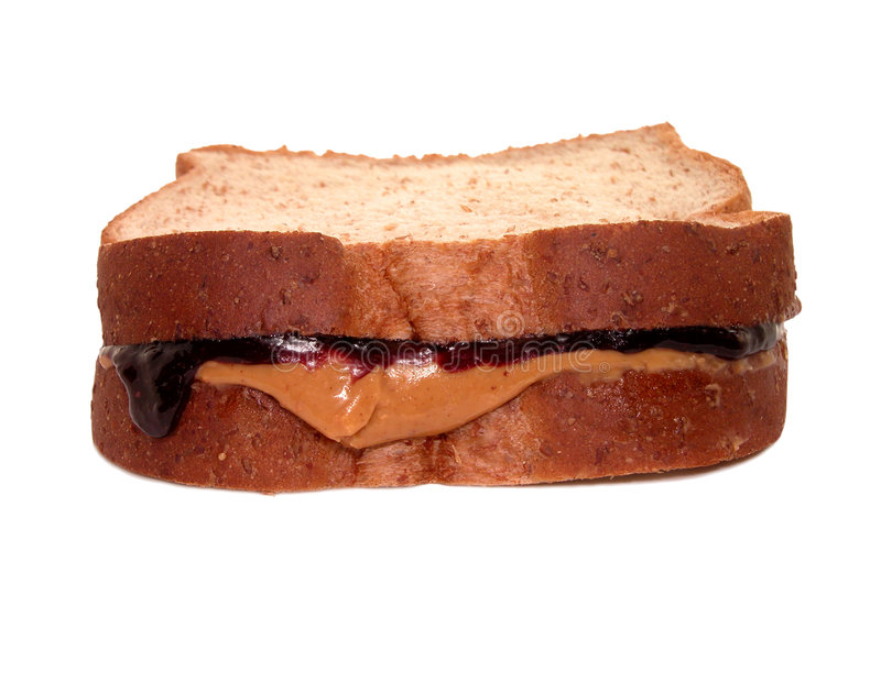Alimento: Sanduíche De PB&J Fotografia de Stock Royalty Free