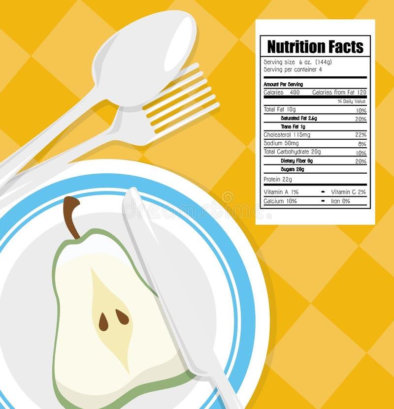 Alimento sano ilustración del vector
