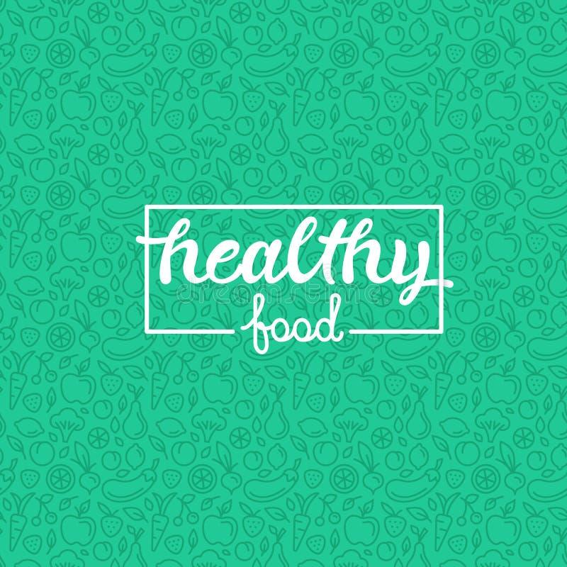 Alimento sano stock de ilustración