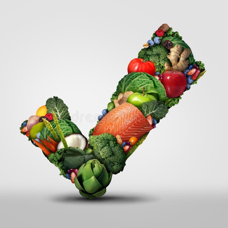 Alimento sano approvato fotografia stock libera da diritti