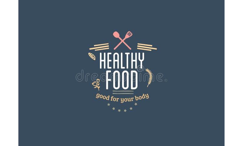 Alimento sano buon per il vostro corpo illustrazione vettoriale