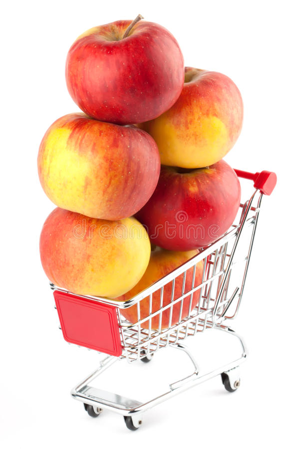 Alimento sano d'acquisto fotografia stock