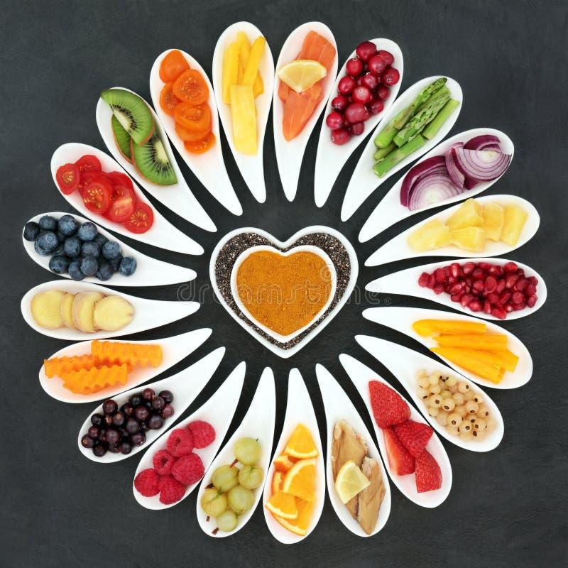 Alimento sano del corazón fotos de archivo