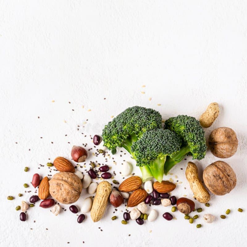 Alimento sano del vegano Fonti di proteina vegetale immagine stock libera da diritti