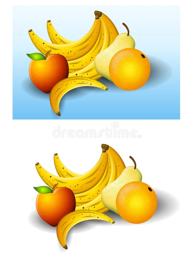 Alimento sano della frutta fresca royalty illustrazione gratis