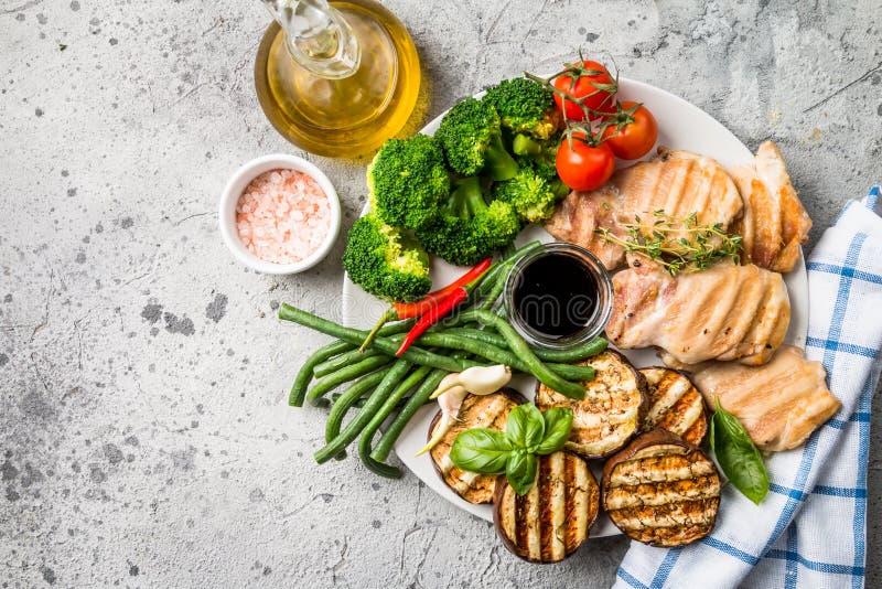 Alimento sano della griglia fotografia stock